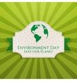 World Environment Day festive Badge and Ribbon vector image vector image