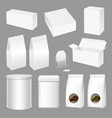 realistic creative tea packaging design set vector image