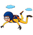 A simple sketch of a man sky diving vector image vector image