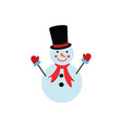 a snowman in the color icon winter vector image vector image
