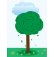 A tree with falling leaves vector image vector image