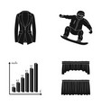 achievements sports and other web icon in black vector image vector image