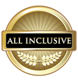 All Inclusive Gold Label vector image vector image