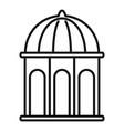 arbor gazebo icon outline style vector image vector image