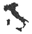 blank map italy divided into 20 administrative vector image vector image