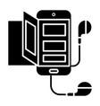 book - audio - smartphone icon vector image vector image