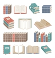 Book icons set color vector image vector image