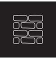 Brickwall sketch icon vector image