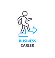 business career concept outline icon linear vector image vector image