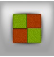 business four squares vector image vector image