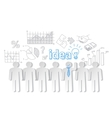 Business people communication teamwork idea vector image vector image