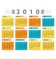 calendar 2010 english vector image