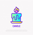 candle thin line icon modern vector image
