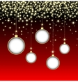 Christmas ball on red background with snowflakes vector image