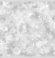 christmas seamless pattern of blurred snowflakes vector image vector image