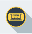 cinema ticket icon vector image
