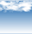 cloudy blurred blue sky vector image vector image