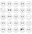 collection of emoticon icons abstract emoji vector image