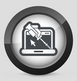 computer assistance icon vector image