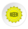 Cover beer icon cartoon style vector image vector image