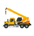 crane truck construction machinery heavy special vector image