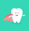 cute cartoon tooth character with face eyes vector image vector image