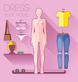 dummy clothes set vector image vector image
