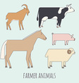 Farmer flat animals vector image vector image