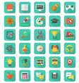 Flat Education and Leisure Icons Set vector image vector image