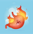 from acid reflux or heartburn vector image