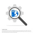 globe icon search glass with gear symbol icon vector image