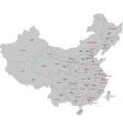 Gray China map