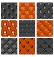 Halloween Seamless Patterns Set vector image vector image