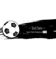 hand drawn grunge banners with soccer ball vector image vector image