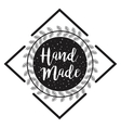 hand made label monochrome icon vector image vector image