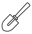 hand shovel icon outline style vector image vector image