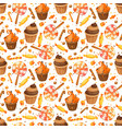 happy halloween sweet seamless pattern trick or vector image vector image