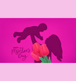 happy mothers day banner cut out effect vector image