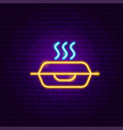 hot lunch package neon sign vector image