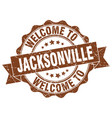 jacksonville round ribbon seal vector image vector image