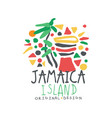 jamaica summer vacation colorful logo vector image vector image