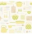 Kitchen utensils pattern vector image vector image