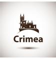 linear symbol of Crimea The castle vector image