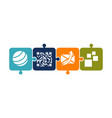 mobility solver logo design template vector image vector image