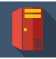 Modern flat design concept icon computer server vector image