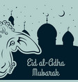 muslim festival of sacrifice eid-al-adha vector image vector image
