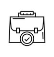 needful suitcase line icon concept sign outline vector image vector image