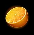 orange icon isolated on black background vector image vector image