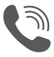 phone call glyph icon communication vector image vector image