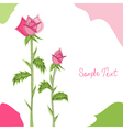 pink roses greeting card vector image vector image